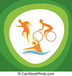 Triathlon Sport Competition Icon Vector Illustration