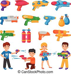 Water Pistols Set - Water pistols for children set with...