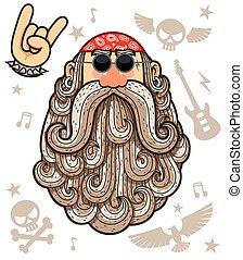 Rocker - Cartoon Illustration of rocker.