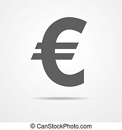 Euro icon - vector illustration. - Simple flat sign on white...