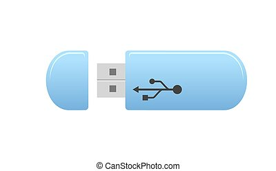 USB flash drive - vector illustration.