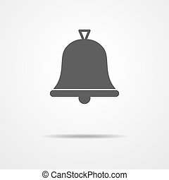 Bell icon - vector illustration. - Simple bell icon - vector...