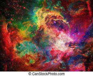 Galactic Space Elements of this image furnished by NASA