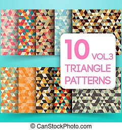 Set of colorful triangle vector backgrounds
