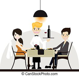 Couple dinning in Restaurant