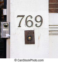 Number 769 - Bronze house number seven hundred and sixty...