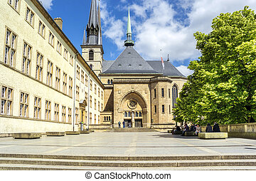 Notre-Dame Cathedral in Luxembourg Europe