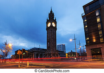 Albert Memorial Clock in Belfast Belfast, Northern Ireland,...
