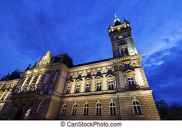 Old city hall in Bielsko-Biala Bielsko-Biala, Silesia,...