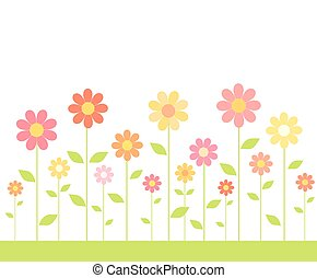 Colorful flowers on meadow