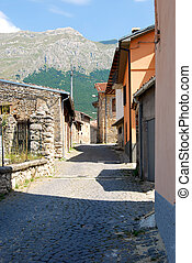 Among the alleys of Assergi in Abruzzo - Italy - mountain...