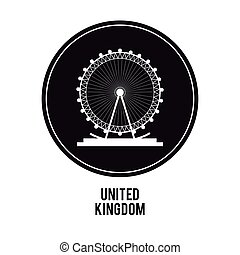 london eye icon. United kingdom design. vector graphic