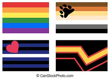 LGBT Pride Flags - LGBT Pride flags. Gay Pride Rainbow flag....
