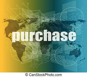 trading word on digital screen, global communication concept vector quotation marks with thin line speech bubble. concept of citation, info, testimonials, notice, textbox. flat style