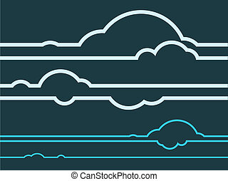 Cloud Graphics Vector - Layered vector illustration of cloud...