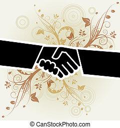 Floral Handshake