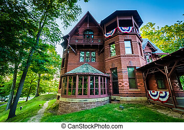 The Mark Twain House, in Hartford, Connecticut