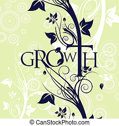 Growth Text Floral Background