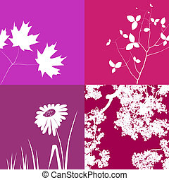 Pink Floral Background Graphics