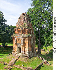 Bakong at Angkor - Bakong temple mountain at Angkor in...