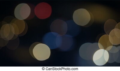 Blurred street lights - Night city street lights bokeh...