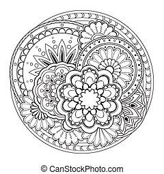 tangled mandalas - Hand drawn tangled mandalas. Image for...