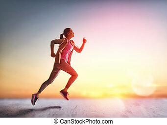 woman running in the nature