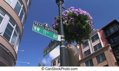 Street Sign - Pearl District street sign in Portland, Oregon