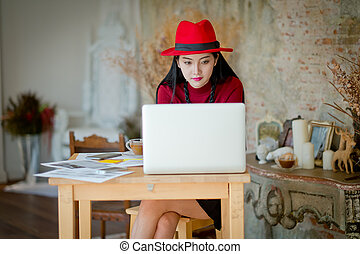 Portrait of a student working