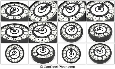 Clock Collage 3d