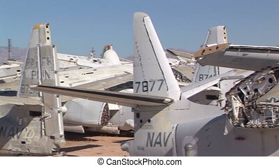 Airplane Boneyard - Abandoned military airplanes