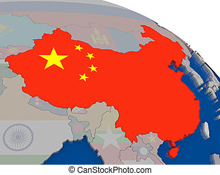 China with flag