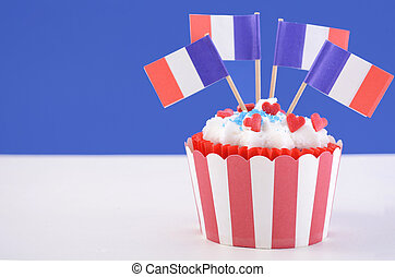 Happy Bastille Day cupcake - Happy Bastille Day cupcake with...