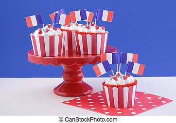 Happy Bastille Day cupcakes. - Happy Bastille Day red, white...
