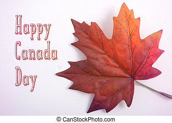Canada Day Maple Leaf with handdrawn text - Happy Canada Day...
