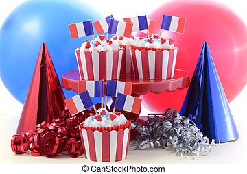 Happy Bastille Day cupcakes - Happy Bastille Day cupcakes in...