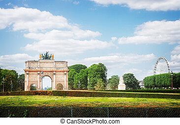 Arc de Triomphe du Carrousel, Paris, - view of Arc de...