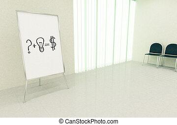 Question idea equals money