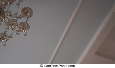 Background with ceiling and chrystal chandelier - Background...