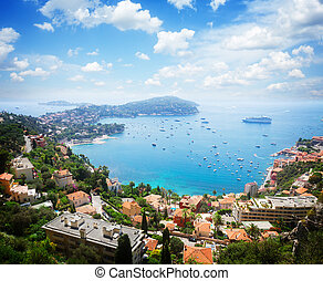 cote dAzur, France - lanscape of riviera coast, turquiose...