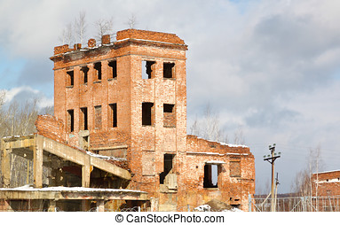 very old abandoned brick building