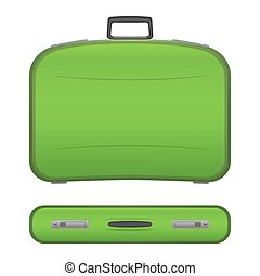 Realistic suitcase on white background