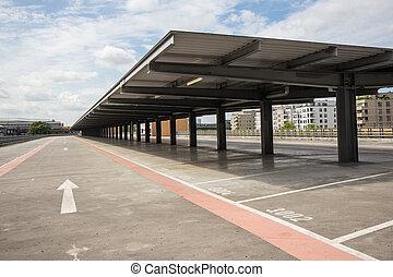 empty parking deck , park lot - empty parking deck - park...