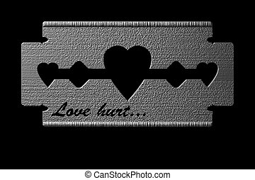 love hurt - suitable for the Valentines day