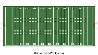 American Football ground - A stylized ground of American...