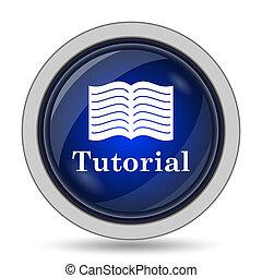 Tutorial icon Internet button on white background