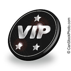 VIP badge - A stylized shiny VIP badge. All isolated on...