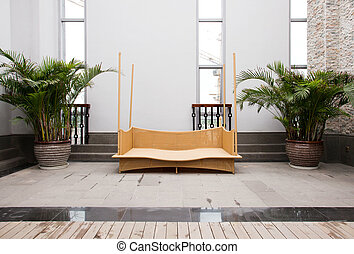 Rattan furniture in home