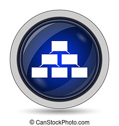 Organizational chart icon Internet button on white...