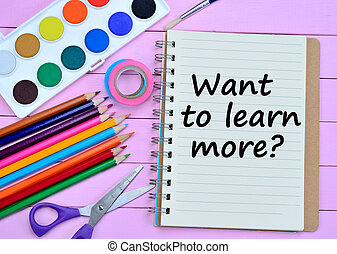 Question Want to learn more on notebook